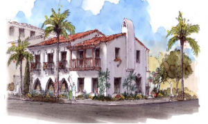 Artist's rendering of 1100 Santa Barbara St.